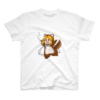 リスレンジャーカラフルマント T-shirts