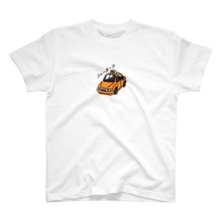 ニューヨークのタクシー ひかえめ T-shirts