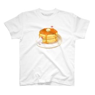 ホットケーキ&文鳥 T-shirts