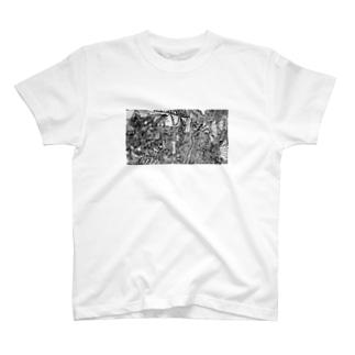 モノクロの地獄 T-shirts