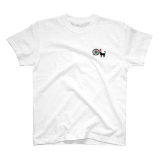 弓道猫+ハート T-shirts