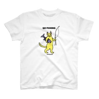 GO FISHING カラー T-shirts
