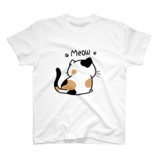 三毛猫後ろ姿 T-shirts