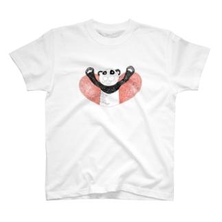 パンダスキーTシャツ T-Shirt