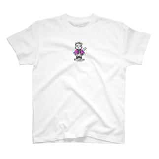 ゆきだるまころころのねこの王子様*ピンク T-shirts