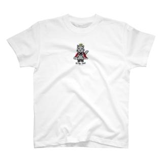 ねこの王様*赤 T-shirts
