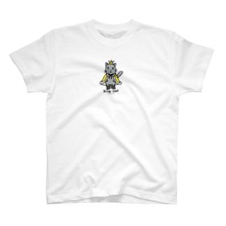 ゆきだるまころころのねこの王様*黄 T-shirts