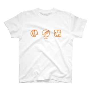 【DOGGYM Shake!】アイコンロゴ(オレンジ) T-shirts