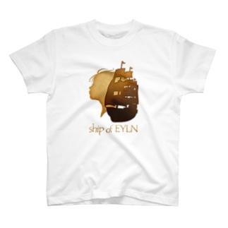 ship of EYLNグッズ(白) T-shirts