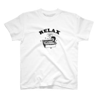 The Eight Wood Marketのお風呂(黒) T-shirts
