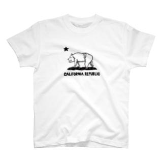 The Eight Wood Marketのクマさん(カラー) T-shirts