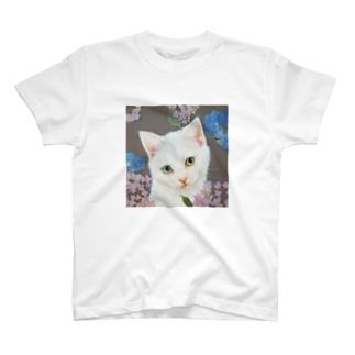 紫陽花としろねこ T-shirts