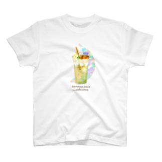 バナナジュースTシャツ T-shirts
