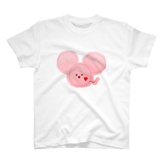 ネズミ ピンク T-shirts