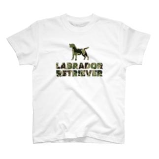 ラブラドールレトリバー 迷彩柄 T-shirts
