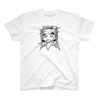 びっくり女の子 T-shirts