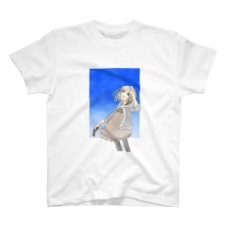 見上げた先は深い蒼 T-shirts