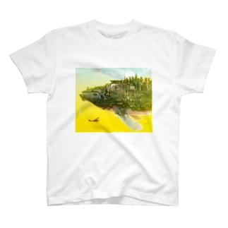 くじらの惑星 T-shirts