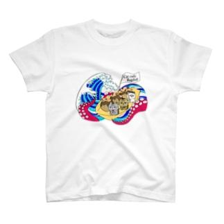 猫カフェラグドールたこ焼きデザイン T-shirts
