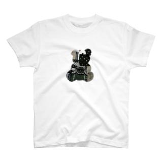 コラージュ テディベア T-shirts