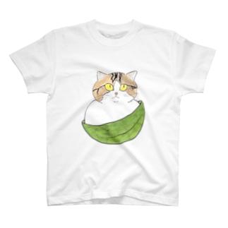 笹の葉まんじゅう猫 T-shirts