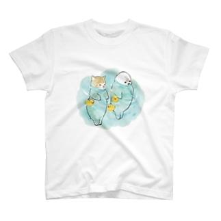 海とにゃんこ T-shirts