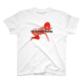 THE LEOPARD WOMAN FRONT T-shirts