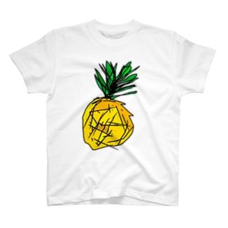 デザインTシャツ パイナップル 公式グッズ T-shirts