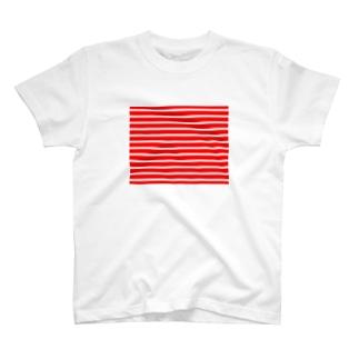 赤白ボーダー T-shirts