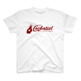 コッカテイル(オカメインコ)フチなし T-shirts