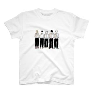 5人組 T-shirts