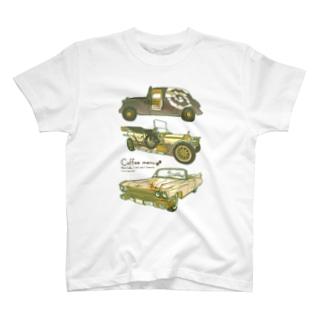 コーヒー×クラシックカー T-shirts