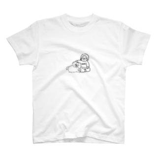 まだ見ぬ犬と可愛がる女 T-shirts