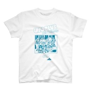 東高円寺U.F.O.CLUB webshopのU.F.O.CLUB復刻シリーズ【24th Anniversary ターコイズブループリント ver.】 T-shirts
