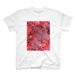 負けないシカ T-shirts