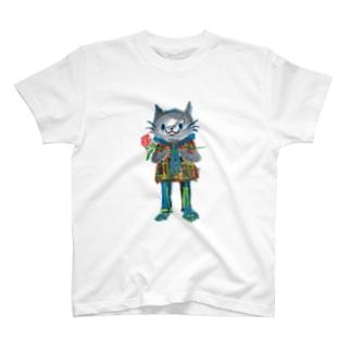 ねこびとさん(ケン) T-shirts