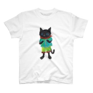 ねこびとさん(クロ) T-shirts