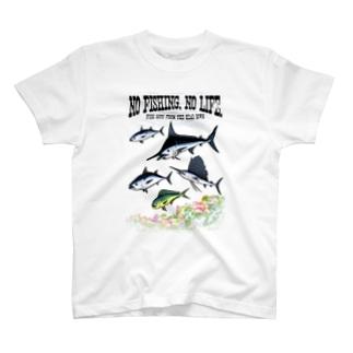 猫と釣り人のFISHING_S7C T-shirts