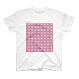 地軸回転機構のおみせ し゛は゜んく゛店のうさぎがぎっしり T-shirts