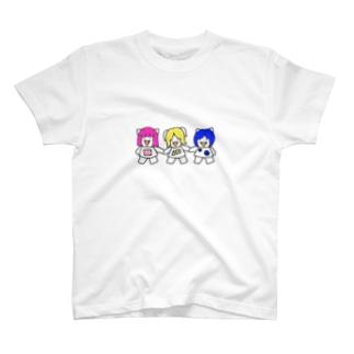 手繋ぎ三匹の子むすめ T-shirts