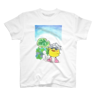 とりかぶと将軍 傘をどうぞTシャツ T-shirts