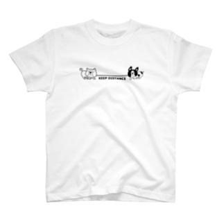 綱引き犬 T-shirts
