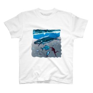 スカンジナビアの海のお散歩 T-shirts