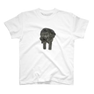 よそんちのモフちゃん(黒プー) T-shirts