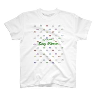 カラフルウシ(小) T-shirts