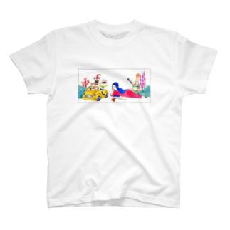 イカネコマリア(枠線あり) T-shirts