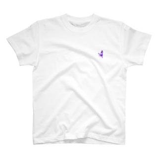 さまようもぐら2段くん 夜 左胸ver T-shirts