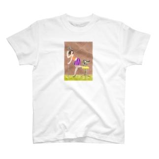 ステージで蝶々と共に T-shirts