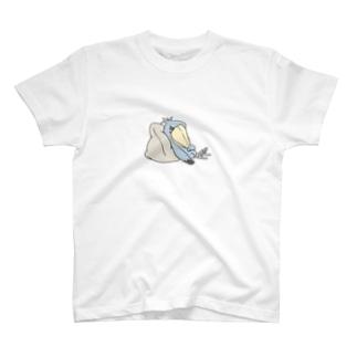 くつろぎハシビロコウ T-shirts