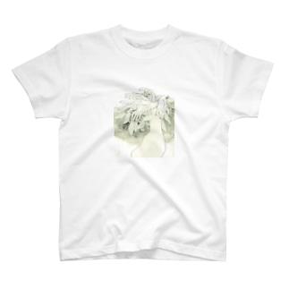 色の無い鸚鵡 T-shirts